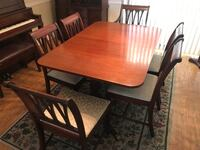 dining table, chairs and hutch WILMINGTON