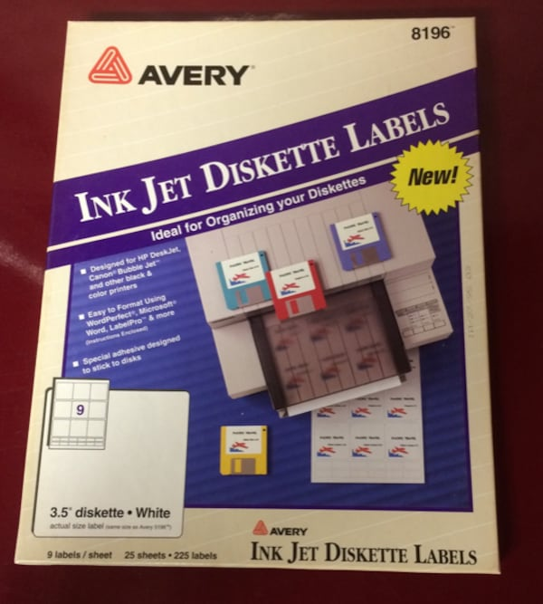 Floppy Disk Printer Labels For Sale a151cf10-64bf-4bad-89c0-883994632107