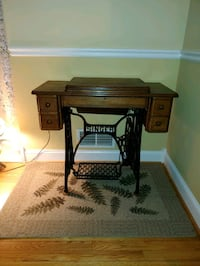brown wooden sewing machine table Alexandria, 22309