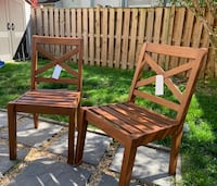 2 Pottery Barn Teak Chairs - Why pay retail pricing?! Alexandria, 22315