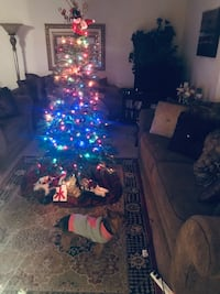 6 ft Christmas tree with multicolored lights  Austell, 30106