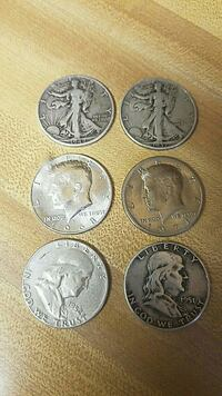 six silver-colored Liberty coins Fairfax, 22031