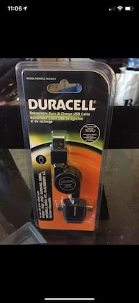 Duracell Retractable Sync & Charge USB Cable*BNIP* Richmond, V7E 6S2