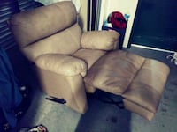 brown leather recliner sofa chair Manteca, 95336
