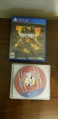 Spiderman ps4 & Call of Duty Black ops 4 386 mi