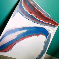 blue, red, and white abstract painting Bowie, 20720
