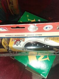 yellow and black Pittsburgh Pirate toy truck box Columbia, 17512