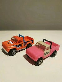 Vintage Orange & Pink Tonka Trucks
