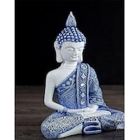 Buddha in Meditation, Blue Robe Mississauga