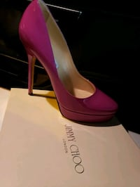 pair of pink leather platform stilettos Toronto, M9W 1P7
