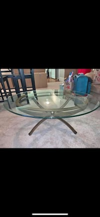 Glass coffee table and 2 end table