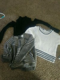 three white, black, and gray crew-neck sweaters Myrtle Beach, 29588