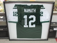 Joe Namath Signed New York Jets Jersey Framed Autograph PSA/DNA COA Woodbridge