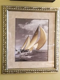 Sailing ship photograph in elegant frame