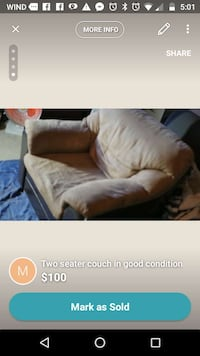 Single and two seater couch delivery available