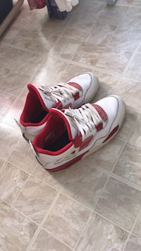 pair of white-and-red Nike basketball shoes Silver Spring, 20904