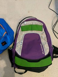 blue and green backpack and backpack 3726 km