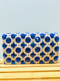 Royal Blue Clutch - Brand New - Comes With a chain