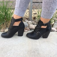 Call It Spring Black Bootie Heels Toronto, M4W 2P4
