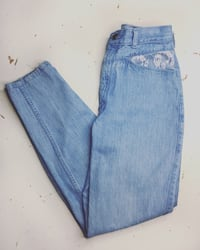 VINTAGE 80's 90's DEADSTOCK PULSE Lace and Denim Jeans Vancouver, V5L 3C9