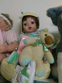 brown and teal bear plush toy and baby doll Allegany, 14706