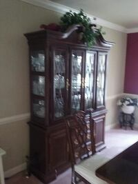brown wooden china cabinet Bowie, 20721