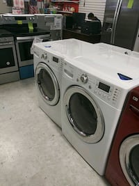 White front load washer an drayer  Laurel, 20707