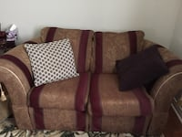 brown and purple fabric loveseat Vaughan, L4H 2R8