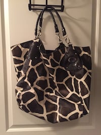Used Large Printed Purse The Red And Black Zebra Print Is 1500
