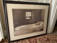 """Framed and matted print- """"Master Bedroom"""" by a Andrew Wyeth"""