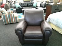 Real Brown Leather Recliner  Norfolk, 23502