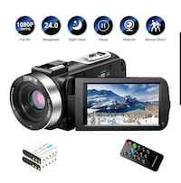 Camera/Camcorder, FHD 24MP Night Vision 3-inch Screen, 16x NEW ½ PRICE