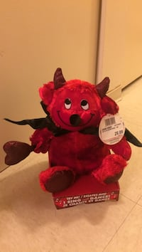 red sing and dance devil character plush toy 3745 km