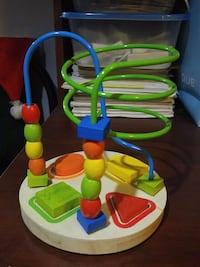 Colour and shapes learning wooden activity toy