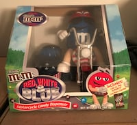 M&ms red white and blue motorcycle candy dispenser