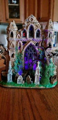 Electric light up Gothic ruins haunted house