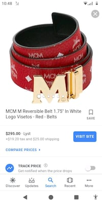 all red mcm belt  Baltimore