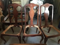 3 brown wooden windsor chairs Frisco, 75035