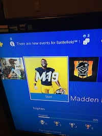 Ps4 comes with 2 controllers and madden 19 installed on system Norfolk, 23513
