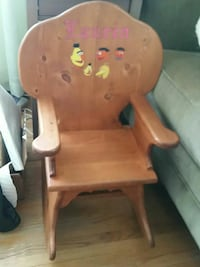 brown wooden chair with white cushion Fort Washington, 20744