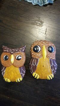 Cute Pair Owls to hang on a wall