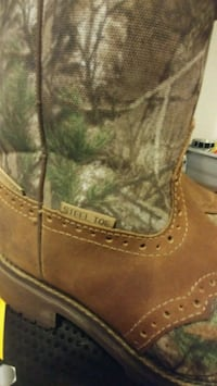 Justin steel toe boots Canton
