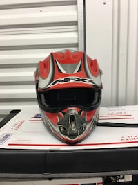 AFX Motocross Mx Racing Motorcycle Helmet Size Youth Large L Helmet is in Good Condition overall but some Flaking of the decal and signs of wear see pics Fredericksburg, 22401