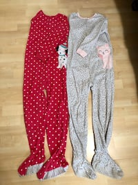 Carter's size 8 footed pajamas