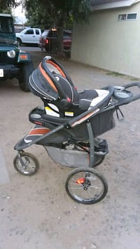 baby's black and gray stroller Riverside, 92509