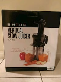 Slow juicer. Brand new, in box. Never used.  Richmond, V6X 3R7