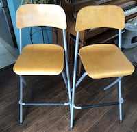 two white-and-brown folding chairs Hamilton, L8J 1L7
