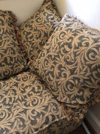 Olive and tan floral textile Nashville, 37076