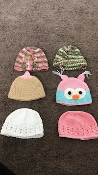 six assorted color of knitted hats Oxnard, 93036