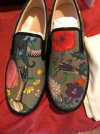 pair of multicolored floral slip-on shoes Chicago, 60624
